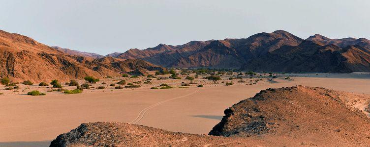 Paysage du Kaokoland en Namibie