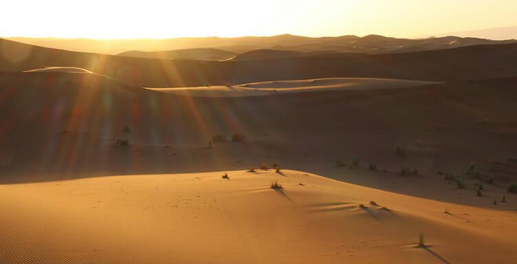 Dunes de Rch Sidi Ali au Maroc
