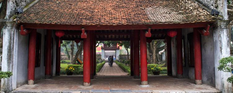 Temple de la litterature à Hanoï au Vietnam
