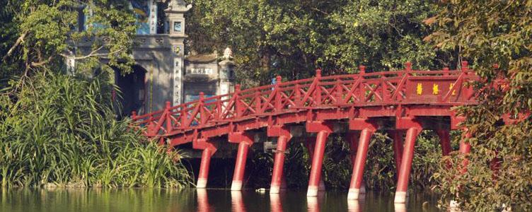 Pont de l'Epee à Hanoi