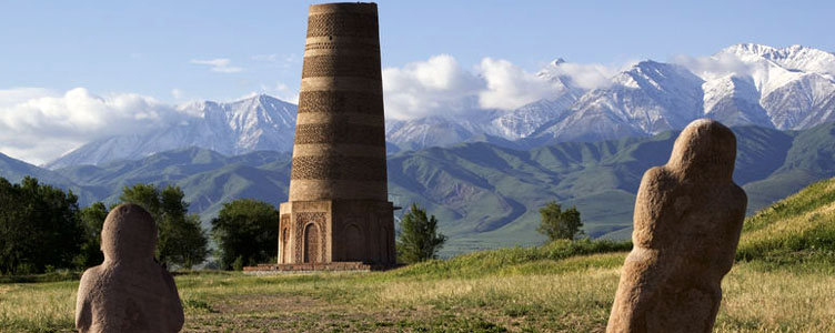 Visite de Burana en Kirghizie avec Samsara