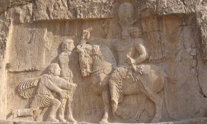 Bas relief de Naqsh-e-Rostam à Persepolis en Iran