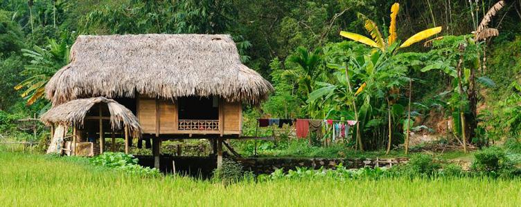Maison vietnamienne à Ha Nang, Vietnam