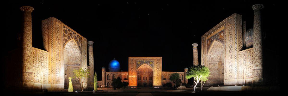 Le Registan à Samarcande en Ouzbekistan