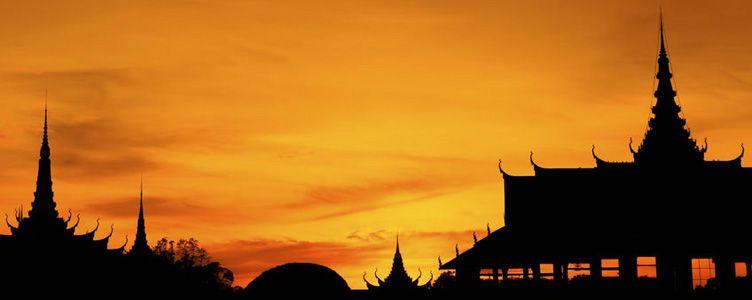 Coucher de soleil sur Phnom Penh Samsara