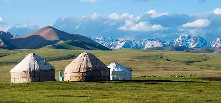 Yourte en Kirghizie
