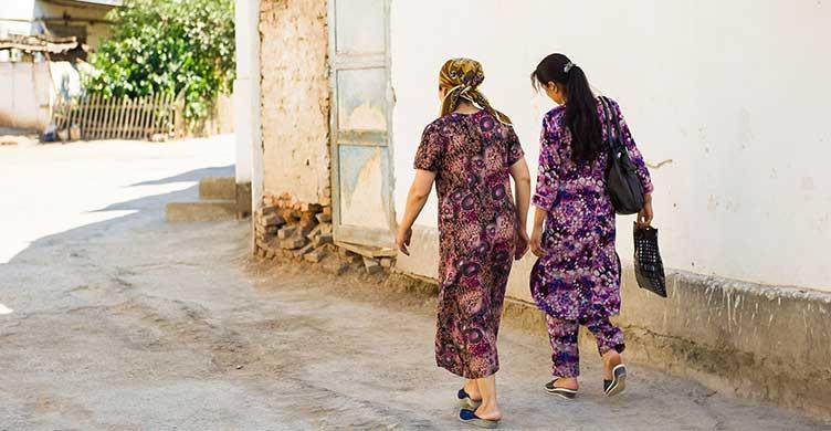 Scène de rue en Ouzbékistan