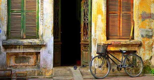 Quartier colonial à Hanoi au Vietnam