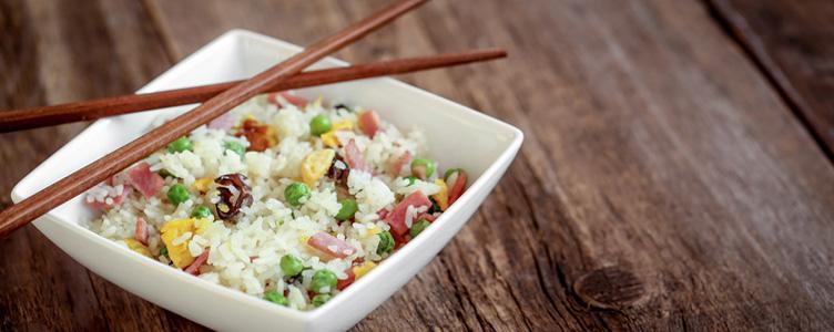 Le riz cantonais de Canton en Chine