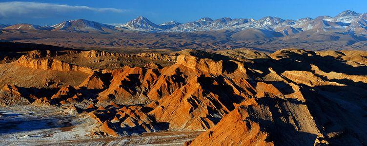 Vallée de la Lune dans l'Atacama
