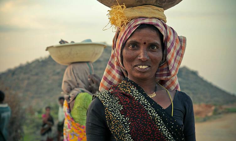 Portait de femme en Inde
