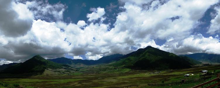 Vallée de Phobjikha ou Bhoutan