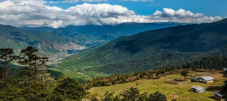 Vallée de Thimphu au Bhoutan
