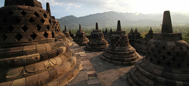 Borobudur en Indonesie