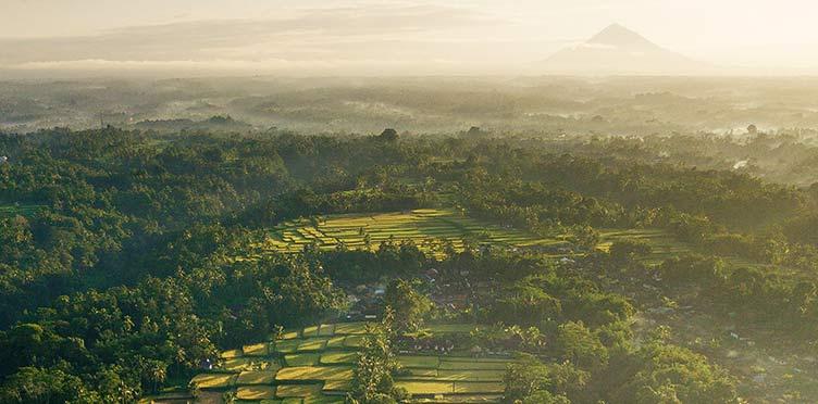 Paysage en Indonésie