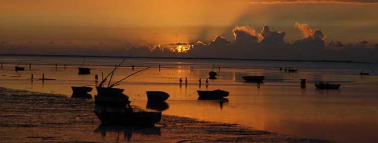 Coucher de soleil au Mozambique