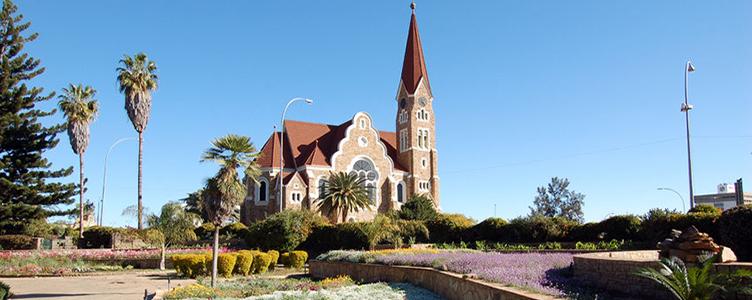 Eglise de Windhoek en Namibie