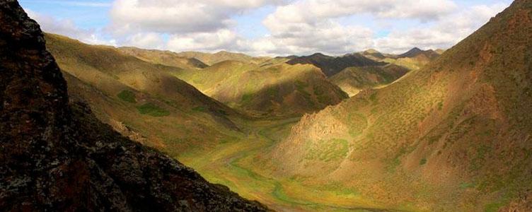 Canyon de Dungenee en Mongolie