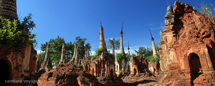 Site de Indein en Birmanie
