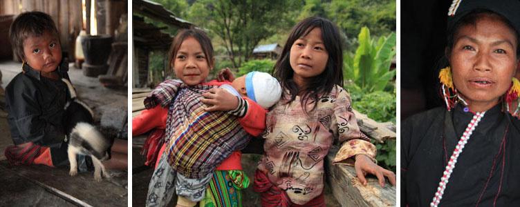Ethnies région de Kentung au Myanmar