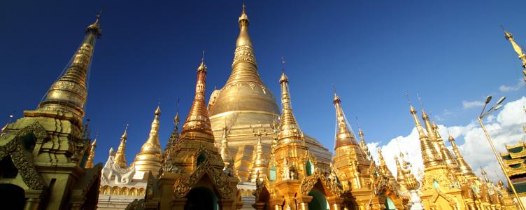 Pagode Shwedagon à Yangon, Birmanie