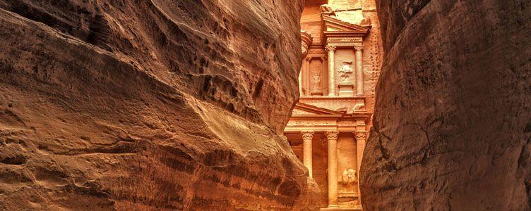 Siq de Petra en Jordanie