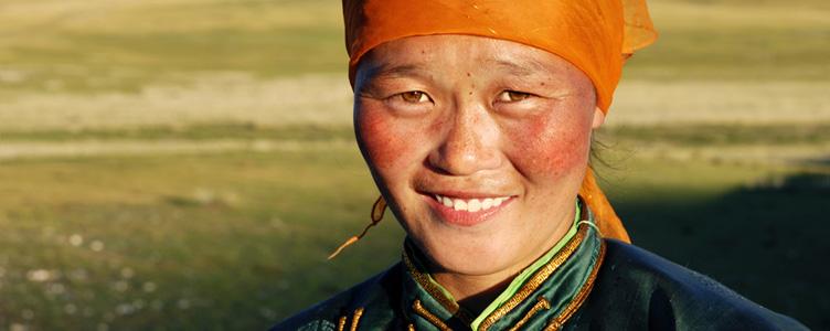 Portrait d'une femme mongole