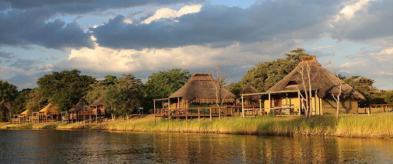Lodge sur la rivière Kwando