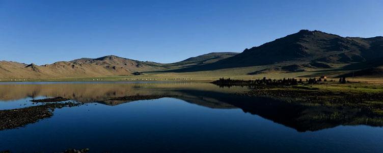 Lac d'Ogii en Mongolie