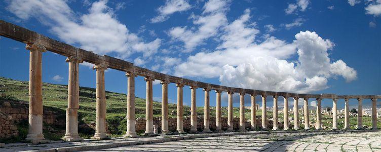 Ruines de Jerash en Jordanie