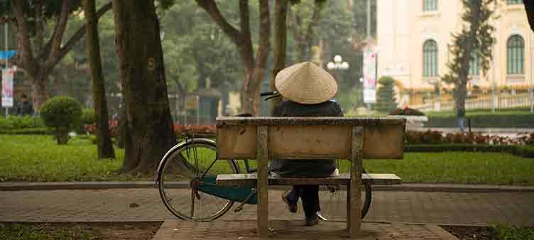 Dans les rues de Hanoï au Vietnam