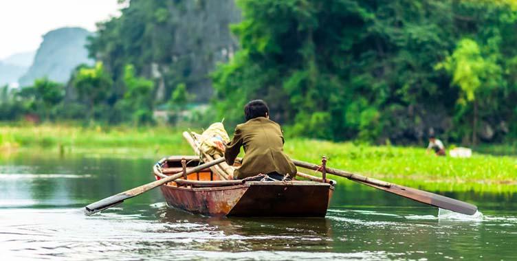 Barque à Ninh Binh