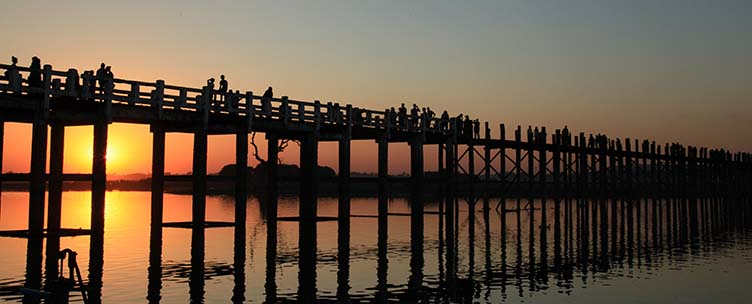 Pont U Bein à Amarapura