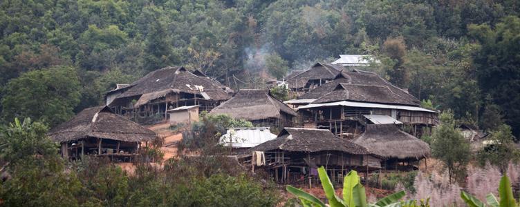 Village région Kengtung Myanmar