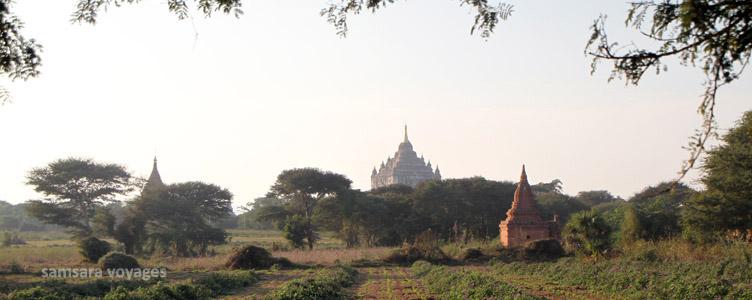 Vue sur la plaine de Bagan, Birmanie