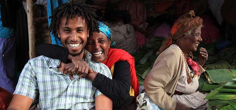 Marché à Addis Abeba lors d'un voyage en Ethiopie