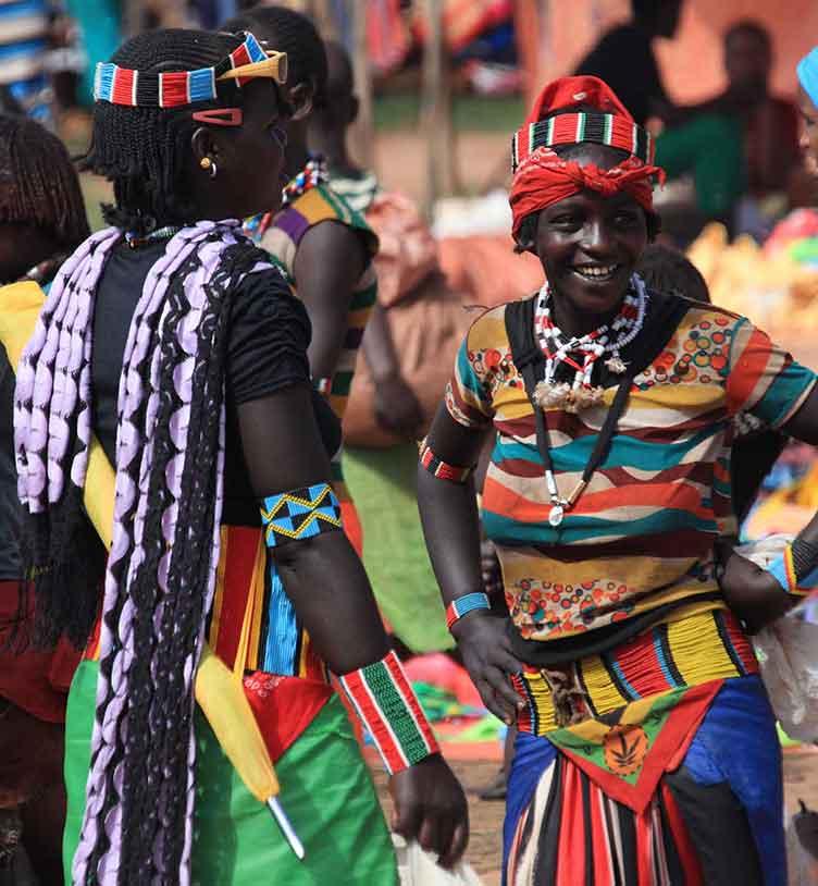 Sur un marché lors d'un voyage en Ethiopie