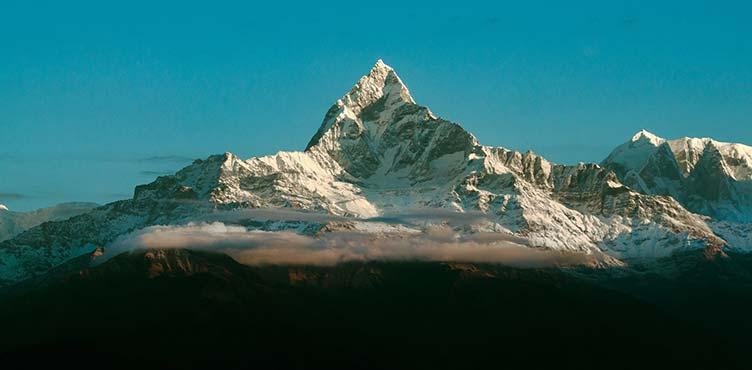 Vue sur l'Himalaya depuis Pokhara