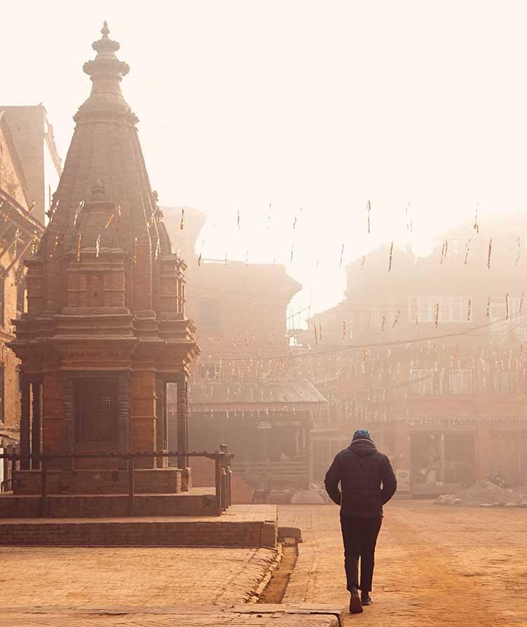 balade dans les rues de katmandou