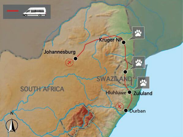 Carte voyage afrique du sud