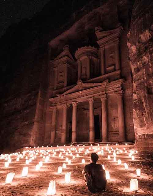 voyage au moyen-orient à Petra
